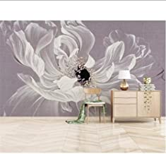 Large HD 3D Wallpaper Hand-Painted Flower Oil Painting Simple Modern TV Background Wall Decorative Painting Wallpaper MRQXDP