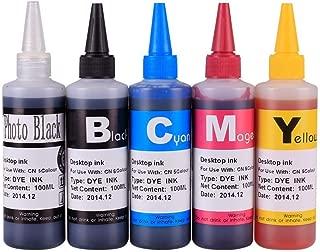 INKOA (TM) Compatible CISS Refill Ink Bottles (500ml, 100ml Per Color & Extra 100ml Black) for PGI-5BK CLI-8
