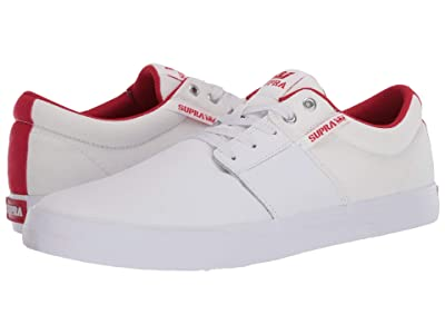 Supra Stacks Vulc II (White/Red/White) Men