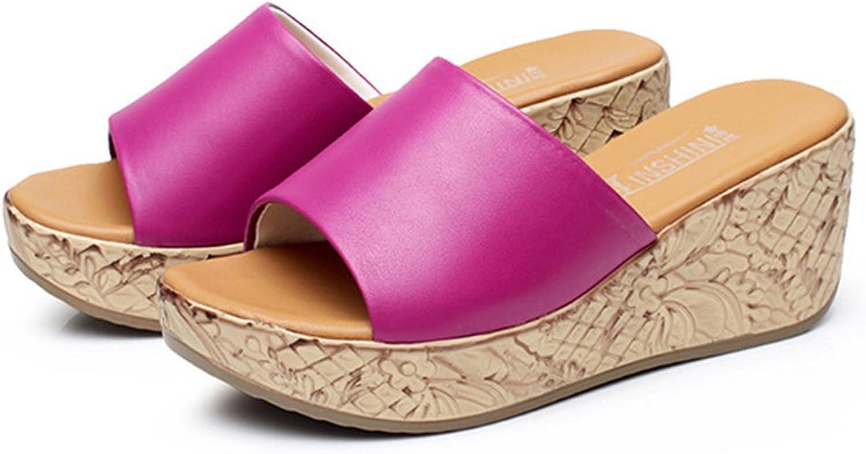Batues Women's Leather Cool Platform Fashion Summer Sandals