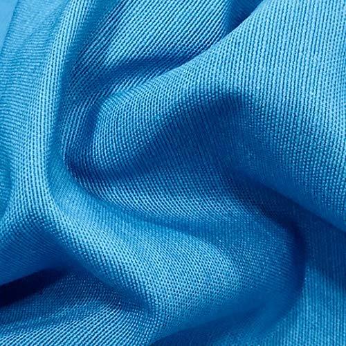 LAS TELAS ... Tela Loneta Lisa por Metros. Ancho de 2,80 Mtrs. 1 Mtr. (Loneta Lisa Azul Tuquesa. Ref. Color NCS S 2060B)