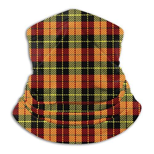 Bandana Neck Gaiter Yellow Red Tartan Plaid Pattern Scottish Cage Cycling Balaclava Face Scarf Mask For Man Women