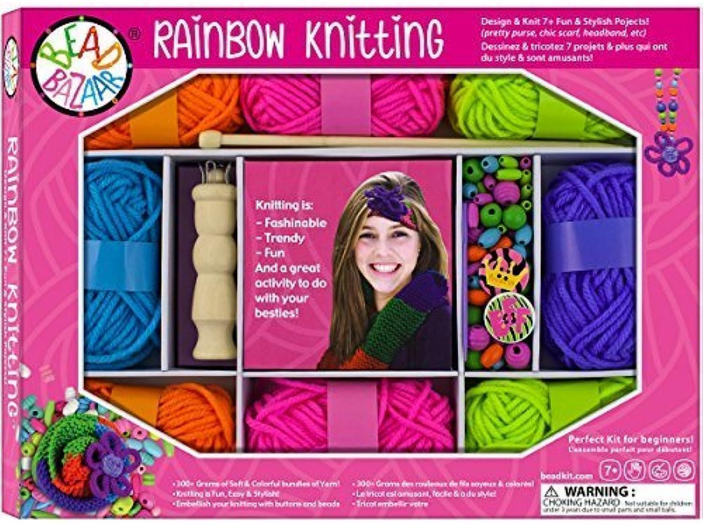 Bead Bazaar Rainbow Knitting Kit by Bead Bazaar
