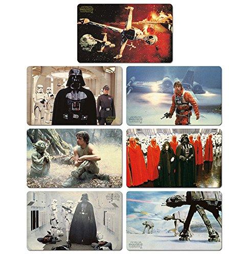 Logoshirt Juego de Tablas de Desayuno La Guerra de Las Galaxias - Juego de 7 Tablas de Picar Star Wars - Diseño Original con Licencia