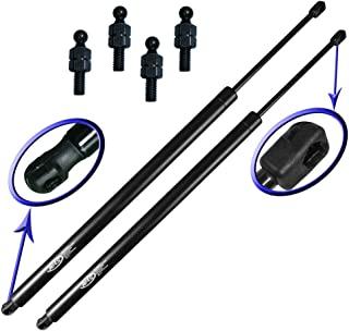 Two Rear Hatch Liftgate Gas Charged Lift Supports With Upgraded Hardware For 96-00 Dodge Caravan, 96-00 Dodge Grand Caravan, 96-00 Chrysler Town and Country, 96-00 Chrysler Voyager, 96-00 Chrysler Grand Voyager, 96-00 Plymouth Voyager, 96-00 Plymouth Grand Voyager. Left or Right Side Mini Van. WGS-135-2