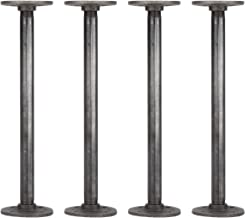 Rustic Industrial Pipe Decor Table Legs,Authentic Industrial Steel Grey Iron Fittings,..