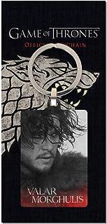 Accessoires Accessoires de sac à main Porte-clés cendrier inspiré de la série «Game of Thrones» avec l'emblème de la Maison Stark et l'inscription «Winter is coming»