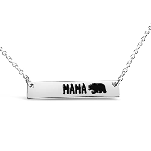 Rosa Vila Bar Mama Bear Necklace Expectant Mom Jewelry Meaningful Birthday For