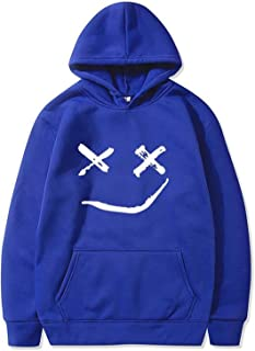 Halloween Hoodies سوياتشيرتس هالوين للرجال، اليقطين الوجه هوديي مضحك جاك - فانوس مقنع البلوز Sweaters (Color : Blue, Size...