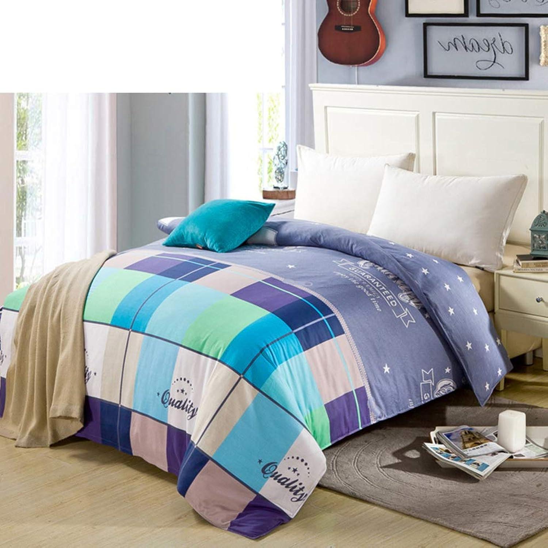 100% Cotton Duvet Cover,colorfast Quilt Cover Multi color Student Quilts Bedding Resistant to dust Mites -S 200x230cm(79x91inch)