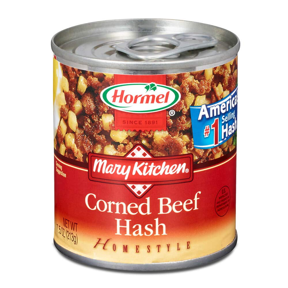 Hormel Mary Kitchen, Homestyle Corned Beef Hash 7.5 oz Can, Case Packed, (Pack of 6)