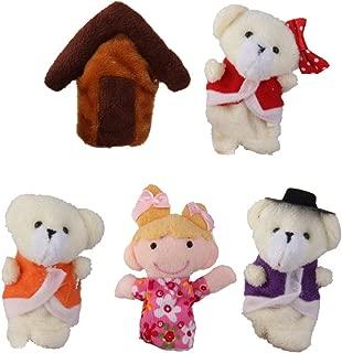 5pcs Goldilocks and Three Bears Finger Puppets Nursery Rhyme Set