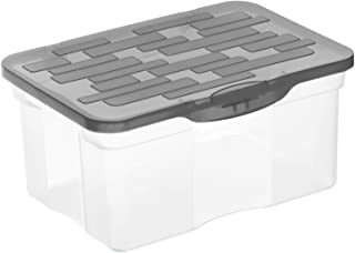 Rotho Ranger Boîte de stockage 4,2l avec couvercle, Plastique (PP) sans BPA, anthracite, A5/4.2l (26.5 x 19.0 x 12.5 cm)