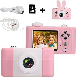 Openuye Cámara para NiñosCámaras de Video Digital Regalo para Niños Juguetes HD 1080P para Niños de 3 a 14 años con Pegatinas de Dibujos Animados en 3D (Tarjeta de Memoria de 16GB incluida)