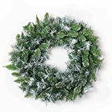 ZHongWei - Corona de Navidad Corona navideña - Decoración navideña Bullet Sticker Corona navideña Blanca 50cm / 60cm Spray Decoración navideña Blanca Corona Arboles de Navidad