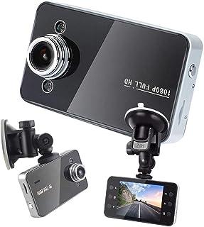KawKaw Mini HD Dascham fürs Auto mit Nachtsicht   Batteriebetrieb möglich oder über KFZ Stromversorgung   Kleine Kamera   PKW Zubehör für den Innenraum   Autozubehör Autokameras Dashcam