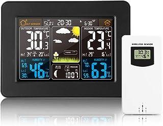 Estación meteorológica inalámbrica Reloj digital colorido