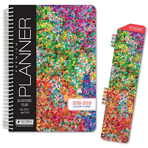"Best Planner 2018 Agenda for Productivity, Durability and Style. 5 x 8"" Daily Planner/Weekly Planner/Monthly Planner/Yearly Agenda. Organizer with Bookmark and Pocket FOLDERS (Colorful)"