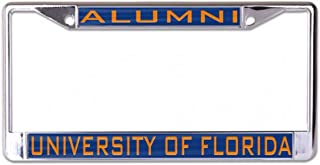 WinCraft University of Florida Alumni License Plate Frame, Metal with Inlaid Acrylic, Blue and Orange