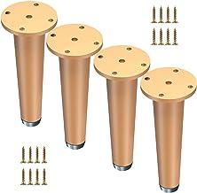 Dxbqm 4 stuks kast metalen benen, zware tafelpoten, aluminium meubelvoeten, antislip vloermatten, banken, kasten, tafelbee...