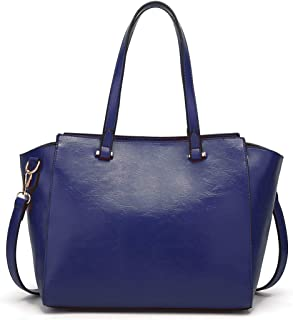 Bags Women Top Handle Satchel Purse and Handbags Bag Daily Work Shoulder Tote Shoulder Bag Women (Color : Blue)