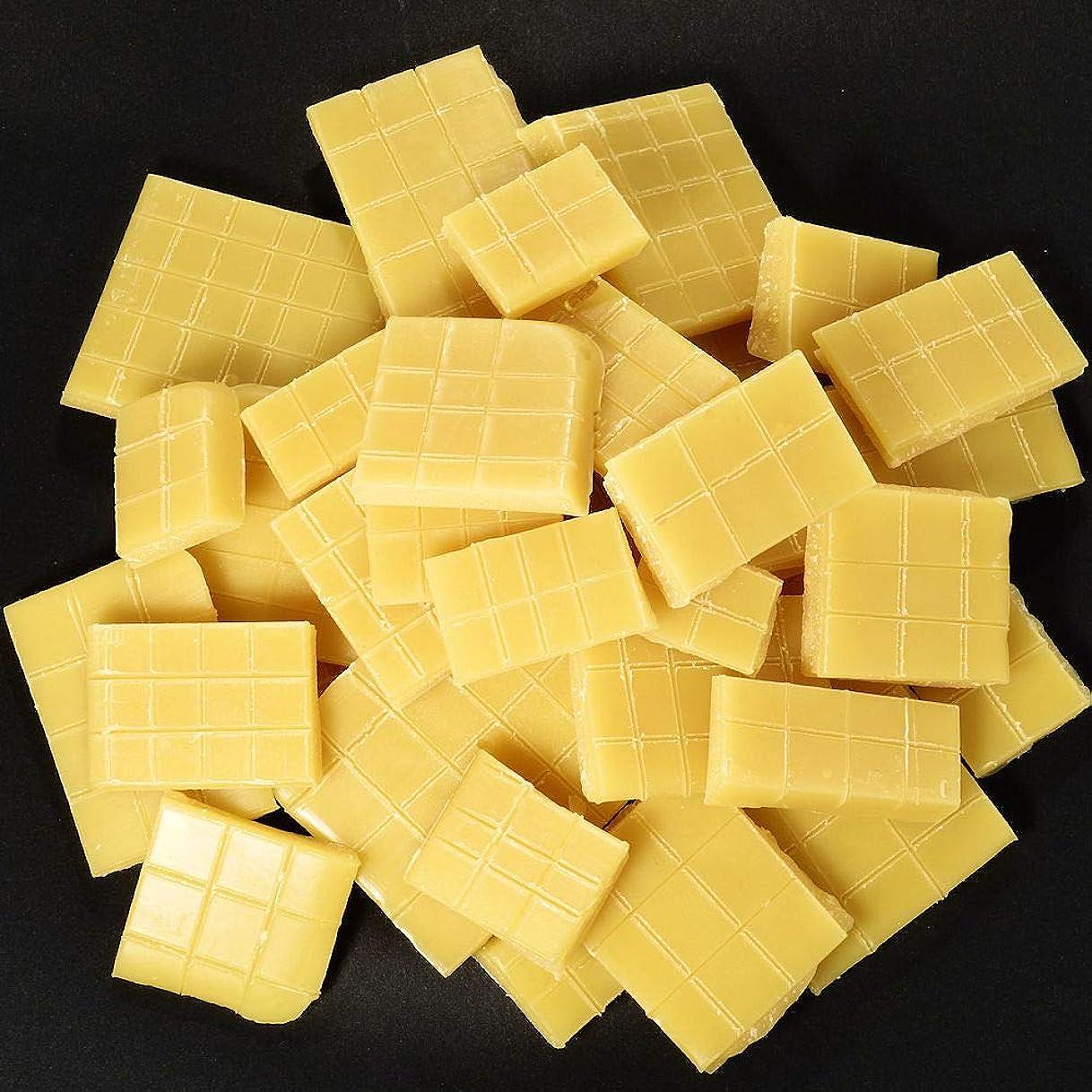 ひらめき憲法福祉keinz アメリカ アイオワ州産 良質 「 スイート?ゴールデン?ビーズワックス 」 蜜蝋 ミツロウ アイオワハニーの甘い香りが残っています。 500g スキンケア用 ロウソク用 綺麗な色