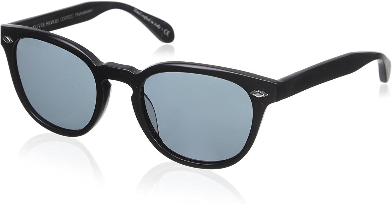 Oliver Peoples OV5315SU Unisex Sheldrake Plus Sunglasses, Semi Matte Black