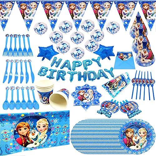 Disney Anna y de la Princesa cumpleaños Embroma Fuentes de Placas Vasos Desechables Partido del bebé Vajilla Decoración de Suministro