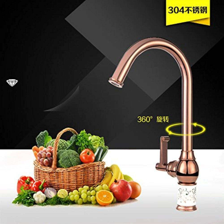 360 ° drehbare Wasserhahn Retro Wasserhahn Küche Waschbecken Edelstahl Hochwertige Wasserhhne