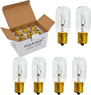 6 Pack E17 40 WattMicrowaveBulb,T8 Tubular High Temp Resistance Incandescent Light Bulb for or Microwave Oven