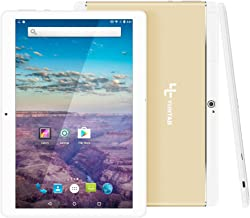 YUNTAB 10.1 inch Unlocked 3G Tablet Smartphone, Android OS, Support Dual SIM Cards, Quad Core Processor, 16GB Storage, IPS Touch Screen(Gold)