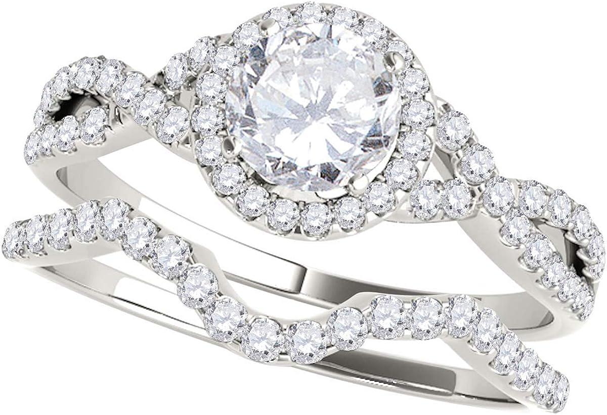 MauliJewels 0.50 Carat Halo Large special price !! Round Virginia Beach Mall Rin Antique Bridal Diamond Cut