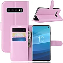 Galaxy S10 Wallet Case, PU Leather Phone Case [Card Slot] [Flip] [Stand] Carry-All Case [TPU Interior Protective Case] [Magnetic Closure] for Galaxy S10, Pink