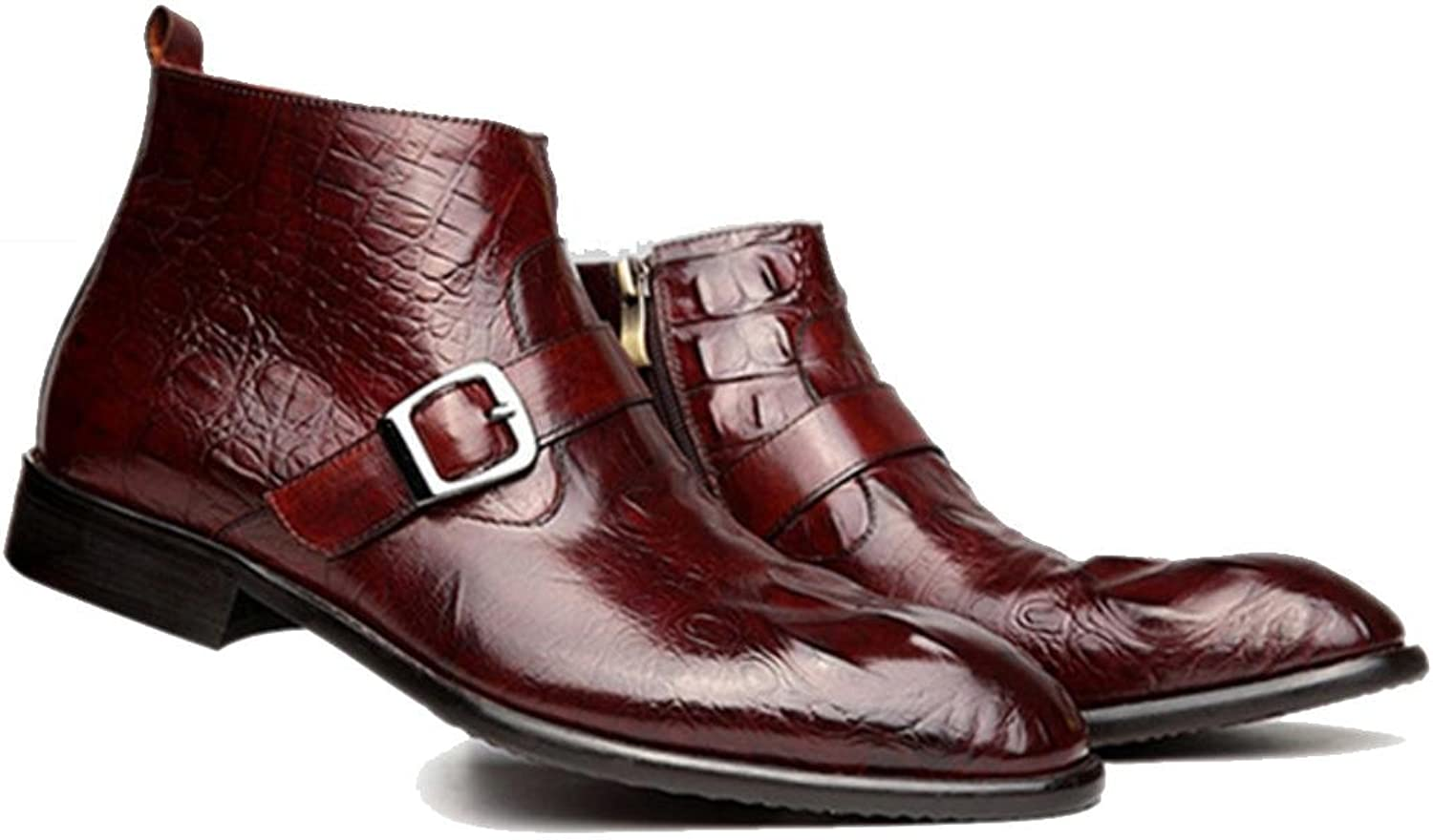 's Europe Wzg Leather Men Boots Martin LMqUpSzVG