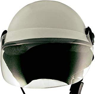 SAFETY HELMET WITH STRAPS ALL PURPOSE SILVER (LARGE)