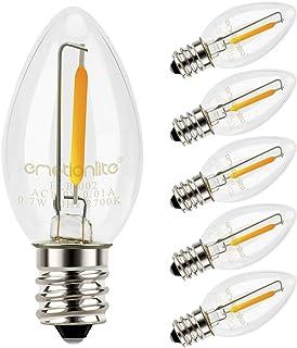 Night Light Bulbs, Emotionlite LED C7 Bulb, E12 Candelabra Base, Salt Lamp and