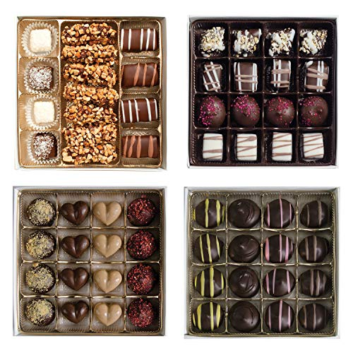 valentines chocolates Valentine's Day Chocolate Gift Box - Celebrate Valentine's Day with 4 Chocolate Boxes, 63 Pc.