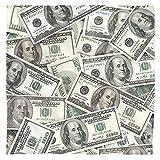 Hundred Dollar Bills Bandana (White, 22x22)