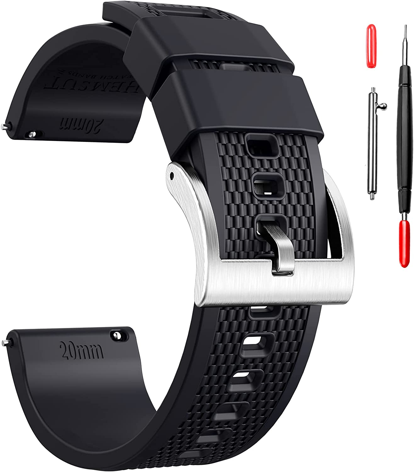 Hemsut Silicone Watch Bands 18mm Max 74% OFF 22mm Wholesale Rubber Release 20mm Quick