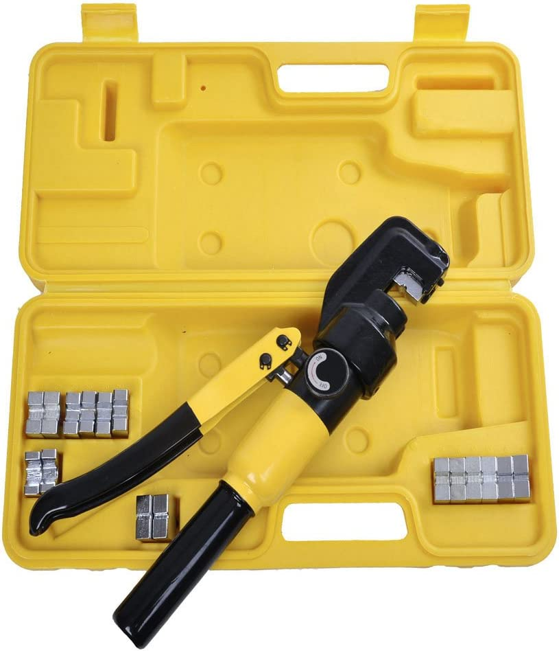 8 Ton Hydraulic Regular store Wire Crimper Crimping Battery Popular products with Dies Tool C 9