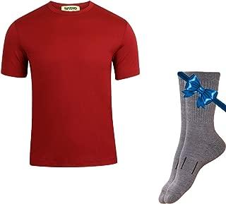 100% Organic Merino Wool Lightweight Men's T-Shirt + Hiking Wool Socks