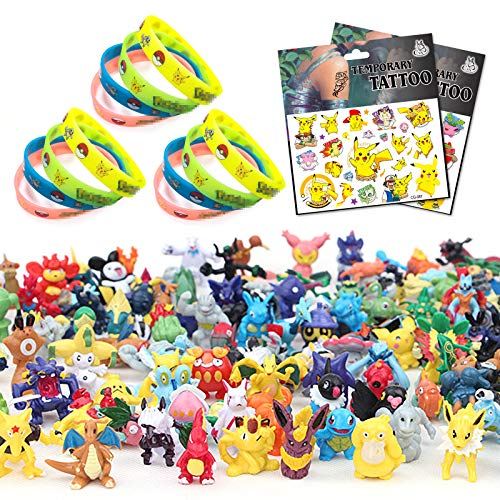 Yisscen Ensemble de Jouets, Mini Figures Bracelets Autocollants Action Figurines pour Enfants et Adultes Fête danniversaire 38Pcs