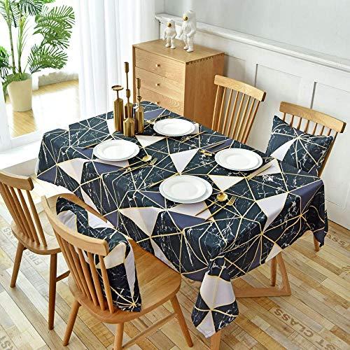 Branfan zwart geometrisch Europa tafelkleed Cover achtergrond fotografie doek kussen Cover Decor Eettafel Thuis tafelkleed stofdicht tafelkleed 135x180cm