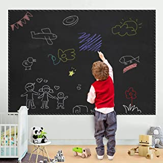 """ZHIDIAN Chalkboard Contact Paper, 94""""x48"""" Self Adhesive Black Board Decal Peel Stick Vinyl Wallpaper for Home/School/Office, Non-Magnetic"""