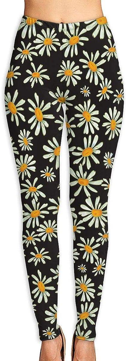 Discount mail order WJM Denver Mall SHOW Flower Camomile Gym Yoga Pants Leggings Sweatpants