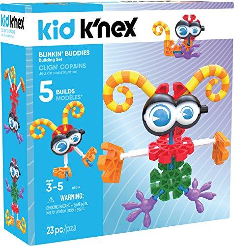 K'NEX 34357 – Bau - und Konstruktionsspielzeug Set Blinkin Buddies, Baukasten Blinkende Helden mit 23 Teilen, Konstruktionsset für 5 Modelle, Kid K-Nex Bauset für Kinder von 3 bis 5 Jahre