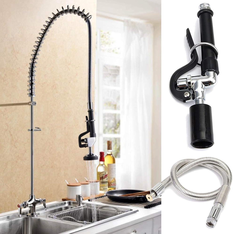 Danigrefinb Wasserhahn Set für gewerbliche Küche Vorspülhahn Wasserhahn Sprühkopf mit flexiblem Schlauch, Zufllige Farbauswahl, einheitsgre