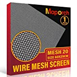 304 Stainless Steel Mesh Screen Type Mesh 20 Wire 11.4'X 23.6' (29cm X 60cm) Woven Vent Mesh, Metal Wire Mesh for Air Ventilation, Door, Shower Drain and Cabinet (1PCS)