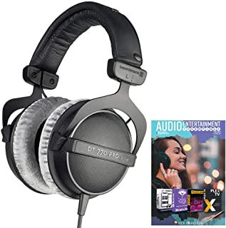 beyerdynamic 474746 DT 770-PRO Studio Headphones 80 Ohms Closed Dynamic Bundle with Tech Smart USA Audio Entertainment Essentials Bundle 2020 photo