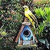 庭の装飾オリジナルの生態学的な無垢材の鳥の巣庭の庭芝生のバルコニー風景装飾装飾工芸品ギフトQ:16 * 15 * 19.5cm